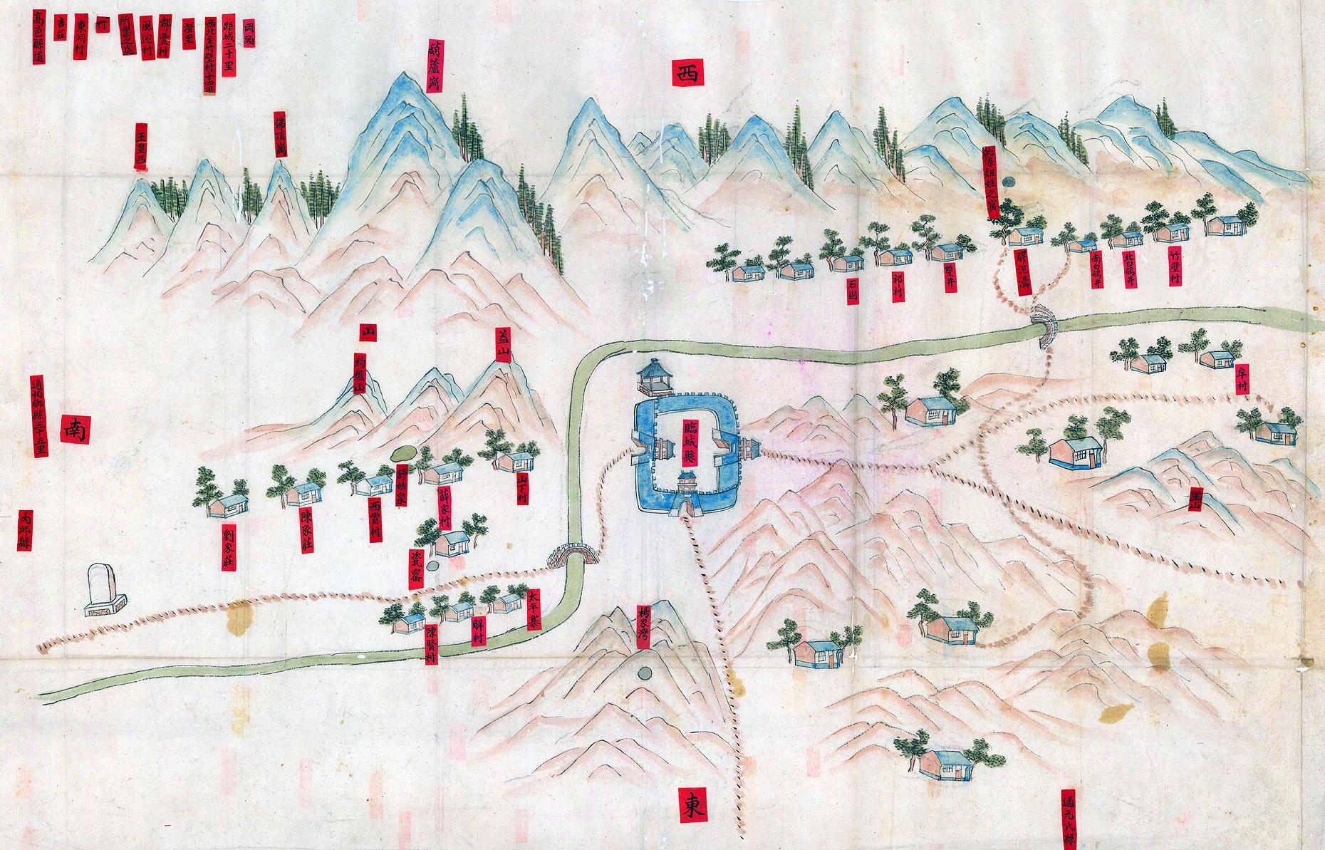光緒29年 (1903年),直隸臨城礦區圖
